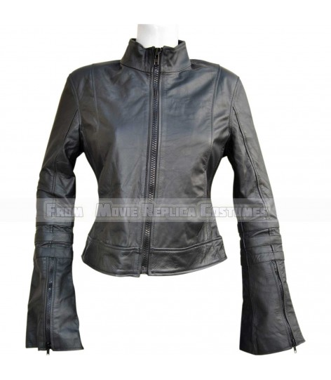 WOMEN'S LEATHER SLIM FIT LONG TALL ARM STYLE JACKET