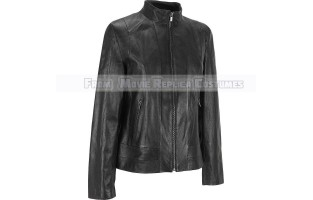 WOMEN'S LEATHER LONG TALL ARM STYLE JACKET