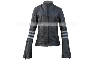 WOMEN'S LEATHER SLIM FIT LONG TALL ARM STYLE BIKER MOVIE JACKET