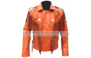 MEN'S WESTERN STYLE MOVIE LEATHER JACKET