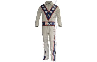EVEL KNIEVEL COSTUME LEATHER JUMPSUIT FULL SUIT