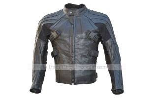 DEADPOOL STYLE BLACK MOTORCYCLE REAL LEATHER JACKET