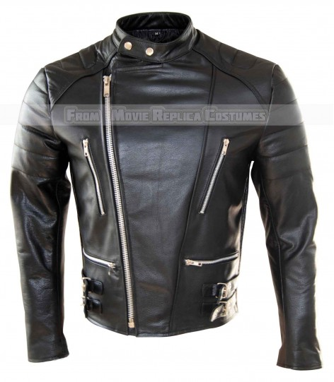 MEN'S BIKER ROAD KING LEATHER JACKET