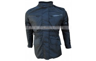 BLACK 4 POCKETS TEXTILE JACKET