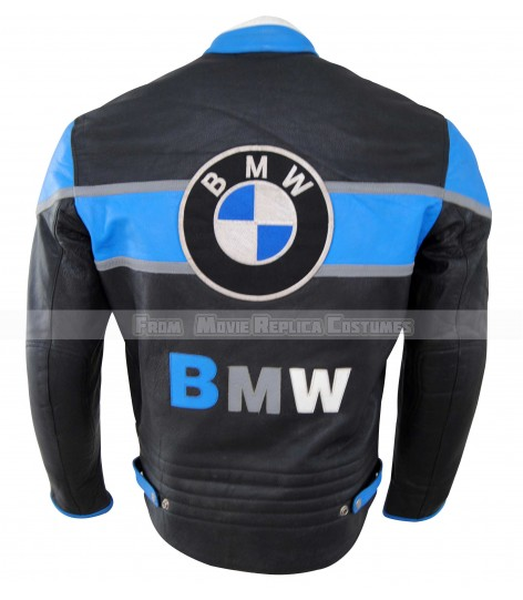 MEN MOTO GEAR BMW AND NOKIA LEATHER JACKET