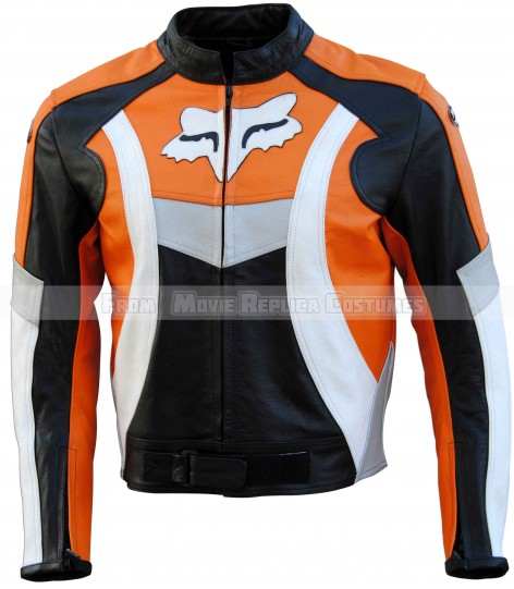 MEN'S MOTO GEAR FOX RACING LEATHER JACKET