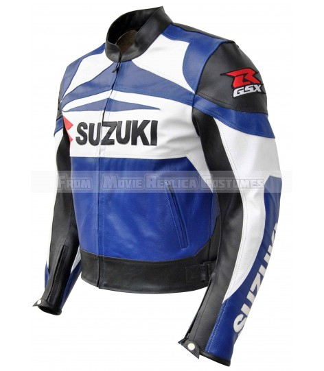 MEN'S MOTO GEAR SUZUKI GXS LEATHER JACKET