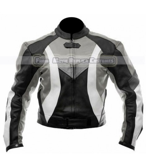 MOTO GP FIREBLADE KTM REPSOL BLACK MOTORCYCLE PRO BIKER LEATHER JACKET