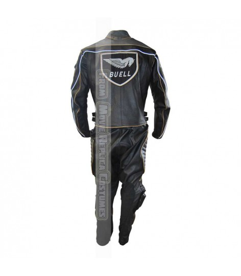 NEW BUELL EXHAUST AMERICAN MOTORCYCLES LEATHER SUIT PADDED