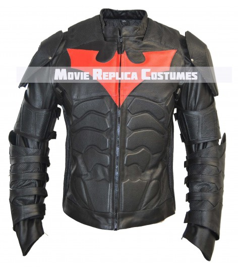 BATMAN BEYOND COSTUME MOTORCYCLE LEATHER JACKET