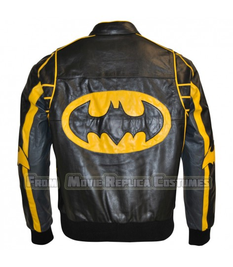 BATMAN BOMBER MOTORCYCLE LEATHER JACKET