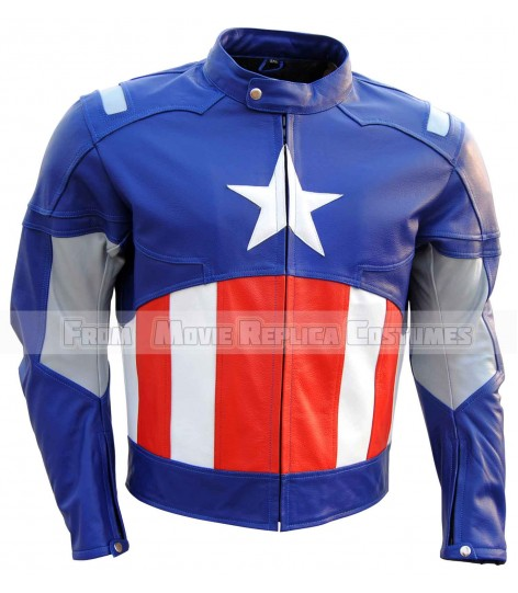 AVENGERS CAPTAIN AMERICA' STEVE ROGERS (CHRIS EVAN) LEATHER JACKET