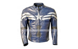 THE WINTER SOLDIER CAPTAIN AMERICA' STEVE ROGERS (CHRIS EVAN) LEATHER JACKET ASTRONAUT