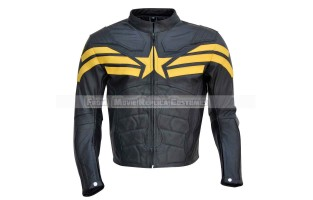 THE WINTER SOLDIER CAPTAIN AMERICA' STEVE ROGERS (CHRIS EVAN) LEATHER JACKET YELLOW SHARK