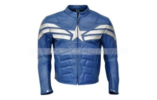 THE WINTER SOLDIER CAPTAIN AMERICA' STEVE ROGERS (CHRIS EVAN) LEATHER JACKET MARINER