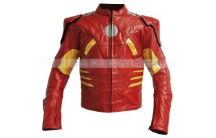 "AVENGER IRON MAN ARMOR (MARK VII)'S ANTHONY ""TONY"" (STARK ROBERT DOWNEY JR.) COSTUMES LEATHER JACKET"