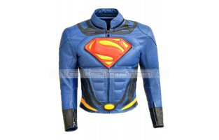 SUPERMAN: MAN OF STEEL, CLARK KENT (HENRY CAVILL) COSTUME LEATHER JACKET NEW EDITION