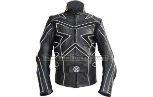 X-MEN: THE LAST STAND'S LOGAN /  WOLVERINE HUGH JACKMAN LEATHER JACKET BLACK-WHITE