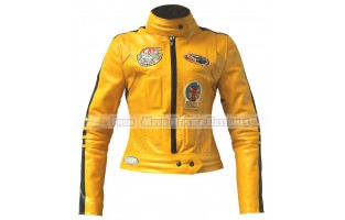 KILL BILL'S THE BRIDE (UMA KARUNA THURMAN) MOVIE COSTUME LEATHER JACKET