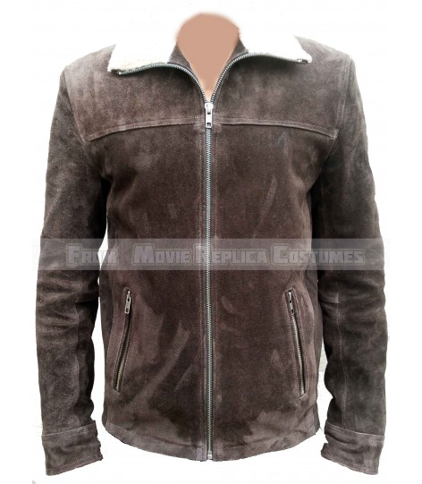 THE WALKING DEAD SEASON 4'S RICK GRIMES (ANDREW LINCOLN) BROWN LEATHER JACKET