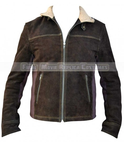 THE WALKING DEAD SEASON 5'S RICK GRIMES (ANDREW LINCOLN) BROWN LEATHER JACKET