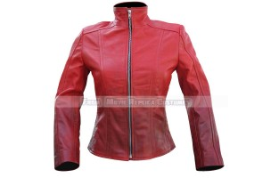 CAPTAIN AMERICA FILM SERIES'S SCARLET WITCH (WANDA MAXIMOFF) ELIZABETH OLSEN LEATHER JACKET