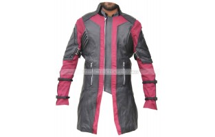 AVENGERS AGE OF ULTRON HAWKEYE'S CLINT BARTON/ JEREMY RENNER LEATHER COAT LONG-LENGTH JACKET