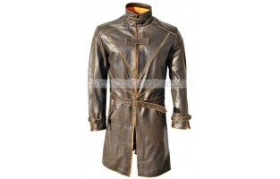 WATCH DOGS AIDEN PEARCE / THE VIGILANTE / THE FOX LEATHER LONG COAT