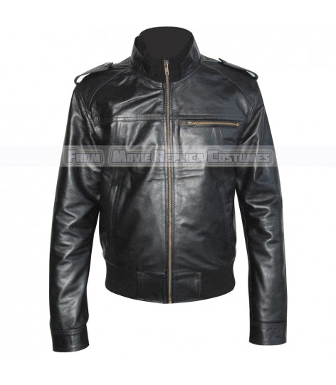 MEN'S COOL HIDES BLACK FASHION LOOT TOP QUALITY REAL LEATHER JACKET