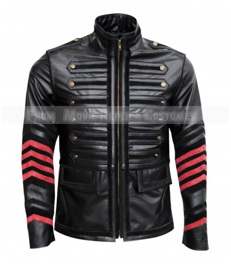 MEN'S COOL HIDES MILITARY FASHION CON TOP QUALITY REAL LEATHER JACKET