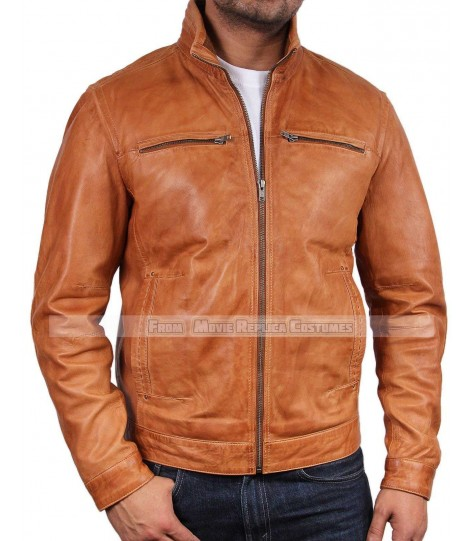 MEN'S COOL HIDES ITALIAN FASHION LIFT TOP QUALITY REAL LEATHER JACKET