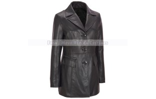 WOMEN'S MID-LENGTH LEATHER JACKETS / COATS
