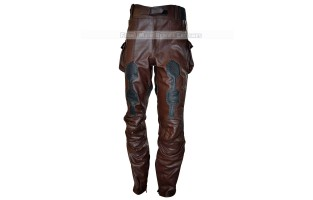 THE WINTER SOLDIER CAPTAIN AMERICA' STEVE ROGERS (CHRIS EVAN) LEATHER PANT CONGO BROWN