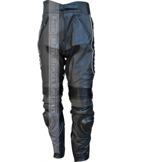 X-MEN: THE LAST STAND'S LOGAN / WOLVERINE HUGH JACKMAN LEATHER PANT BLACK-WHITE